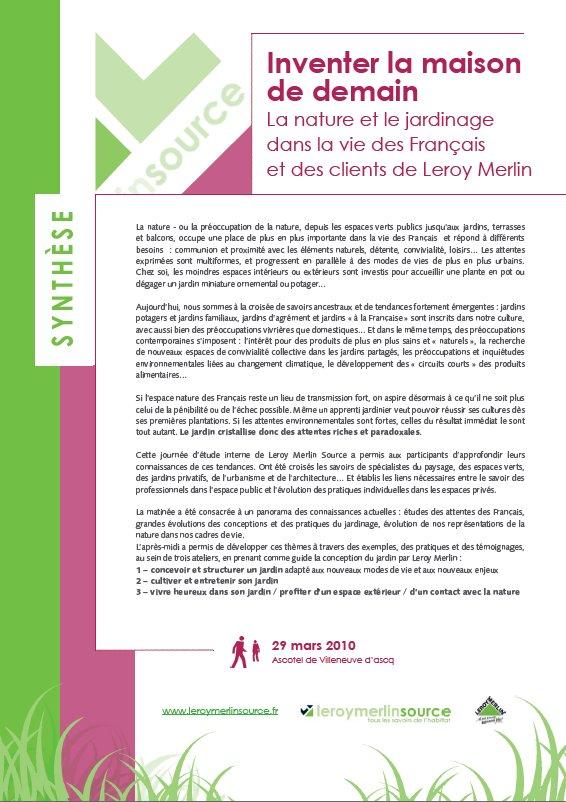 La Nature Et Le Jardinage Dans La Vie Des Francais Et Des Clients