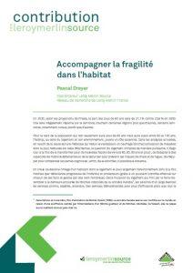 Contribution accompagner la fragilité dans l'habitat